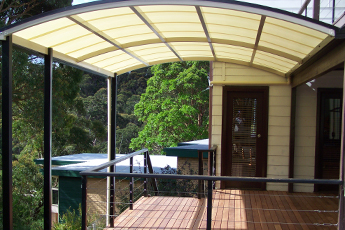 Curved Roof Covered Deck